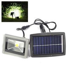 High Power 10W Solar Power LED Flood Night Light Garden Spotlight IP44 Waterproof Outdoor Night Wall Lamp -White Light(China (Mainland))