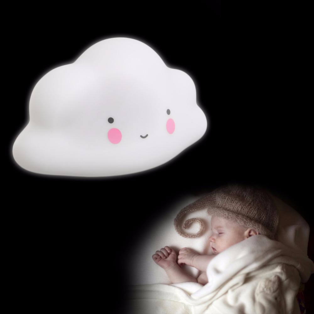 Night lights nursery - Novelty Cloud Smile Night Lights Children Bedroom Nursery Night Lamp Mini Cloud Light Emitting Baby Room