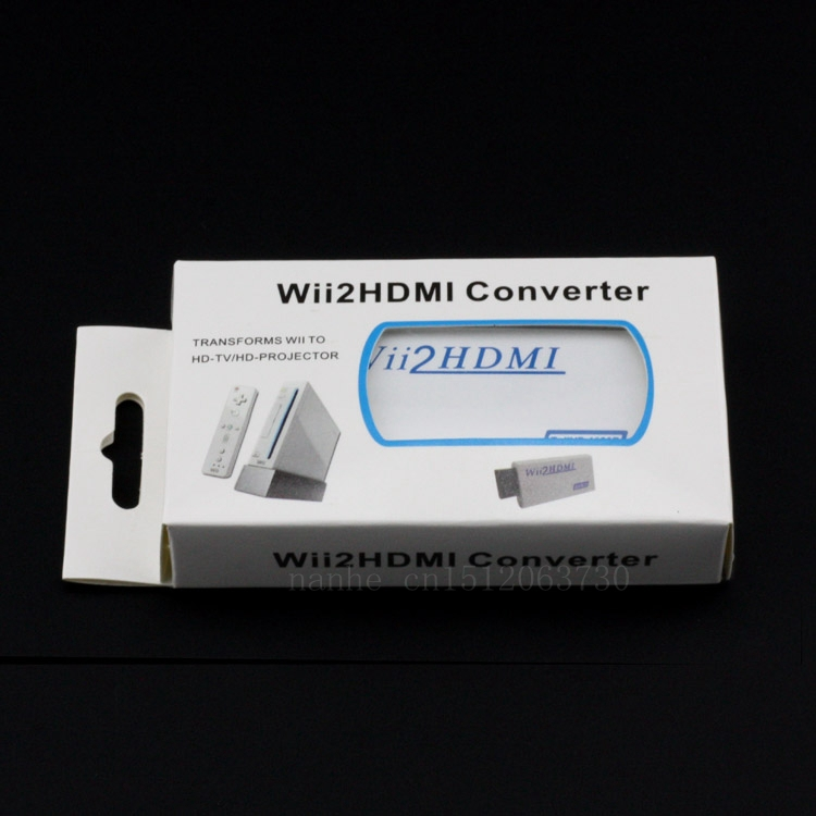 Wholesale Wii2hdmi converter 1080P 480P Wii to HDMI Output Upscaling Adapter with 3.5mm Audio Stereo Gamebox to HD TV(China (Mainland))