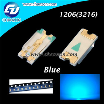 Free Shipping 100pcs/lot 1206 3216 Blue Color SMD SMT Surface Mount LED 1206 Light Emitting Diode LED Diode Lamp(China (Mainland))