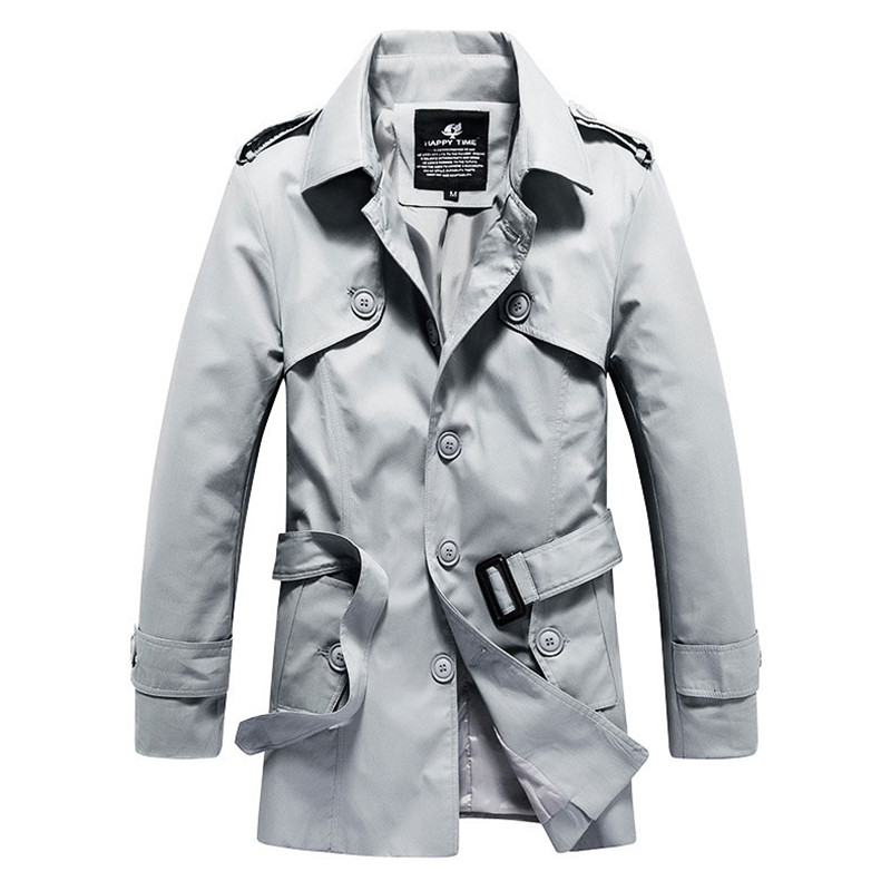 Spring and Winter Classic solid color cotton long men trench coat slim fit European and American style autumn man outdoor coatОдежда и ак�е��уары<br><br><br>Aliexpress