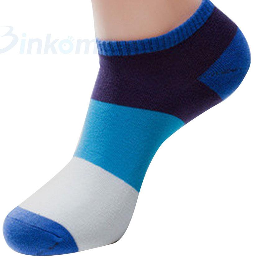 Низкая вырезать до щиколотки носки хлопок много - цвет мужские спорт носки лето 1 пара один размер мягкий удобные