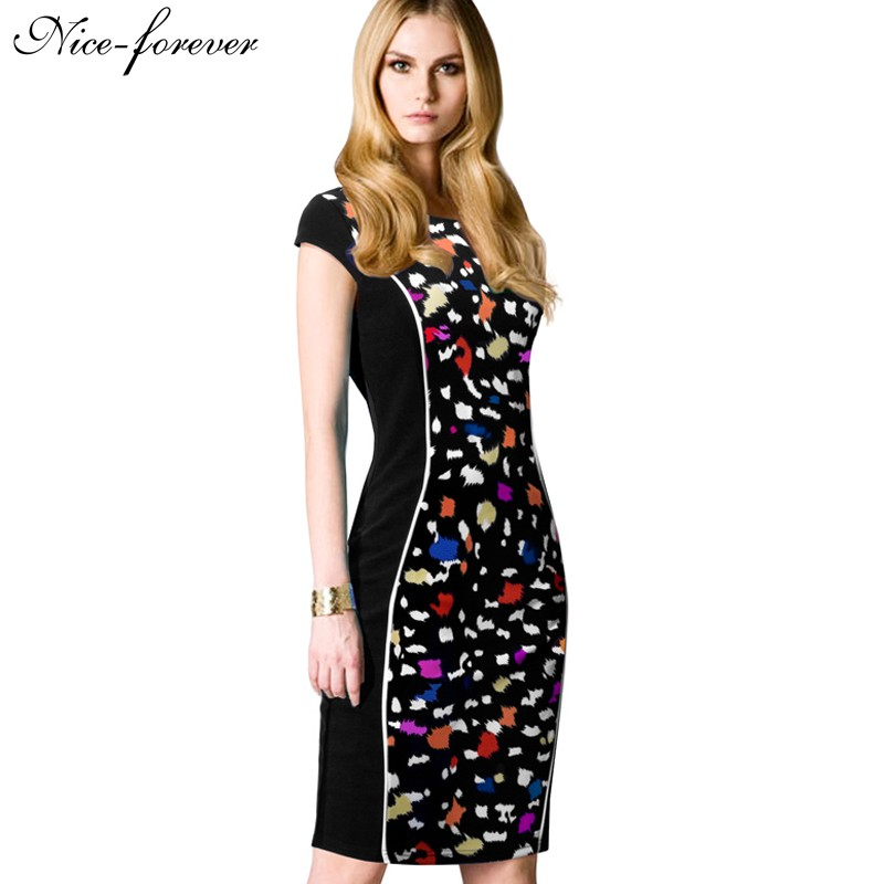 Career Elegant Slim Design Abstract Dots Fitted Dress Plus Size Summer Mysterious Sleeveless Work Bodycon Vintage Dress b278(China (Mainland))