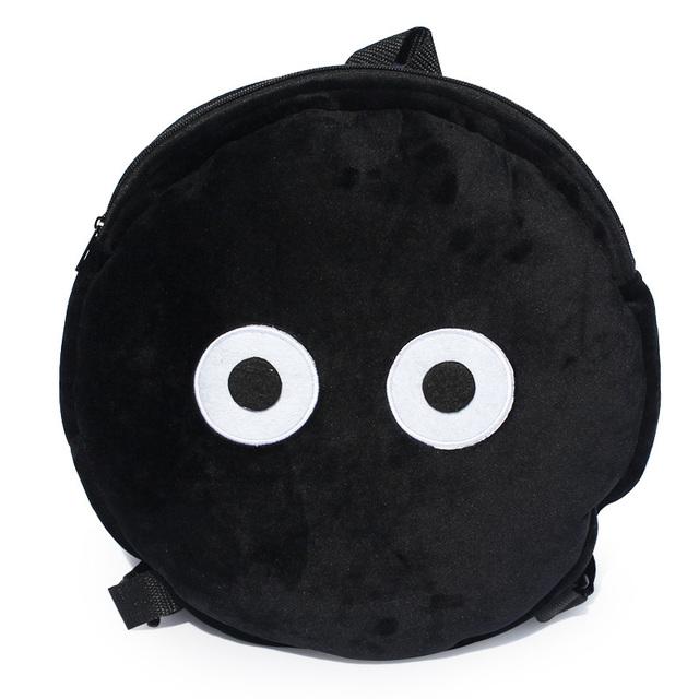 Free Shipping New Miyazaki Hayao Ghibli Totoro Black Dusty bunny Plush Backpack 35cm Soft Doll Gift for Children