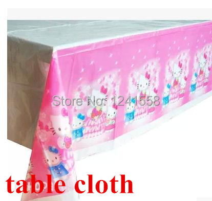 New arrival children's birthday party decoration favors hello kitty table cloth hello kitty party supplies(China (Mainland))