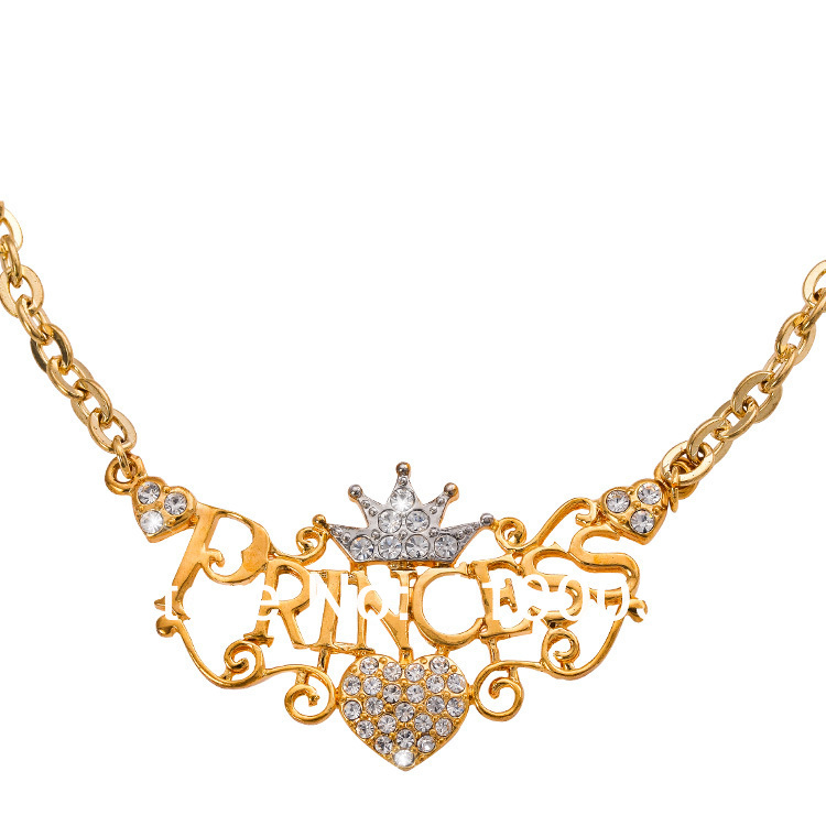 free shipping fashion crown necklaces for