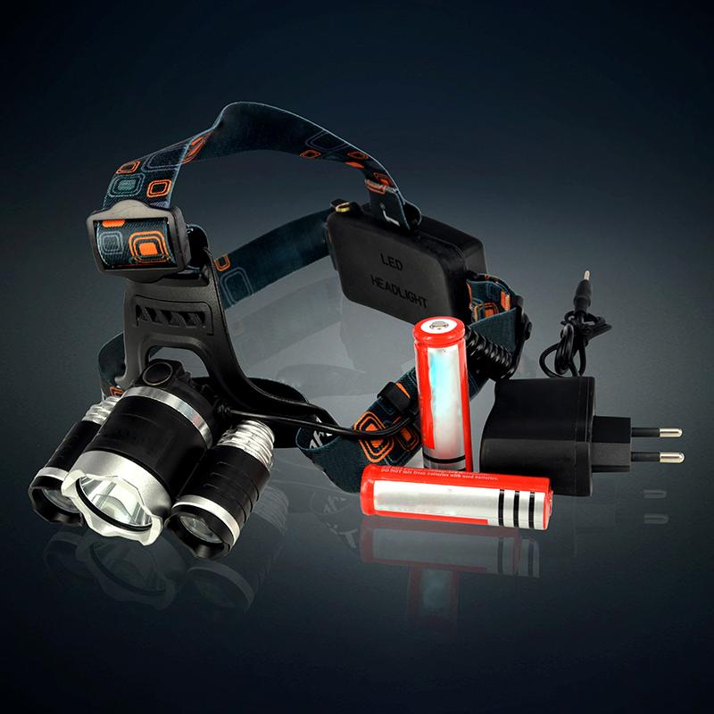 Здесь можно купить  5000LM 3xCREE XM-L T6 LED Headlight head lamp led headlamps+2x18650+Charger+Car Charger  Свет и освещение