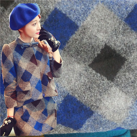 20160328024 Cotton fabric cloth textile tartan small square winter coat fabric retail or wholesale(China (Mainland))