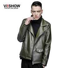 viishow brand new arrive motorcycle leather jackets men ,men's leather jacket, jaqueta de couro masculina,mens leather jackets