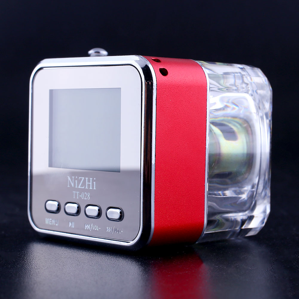 2015 hot fashionable Mini Portable multimedia Speaker with USB Music MP3/4 Player Micro SD/TF FM Radio Red(China (Mainland))