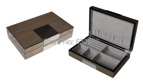 Wholesale velvet Keepsake jewelry boxes wood jewelry display case(China (Mainland))