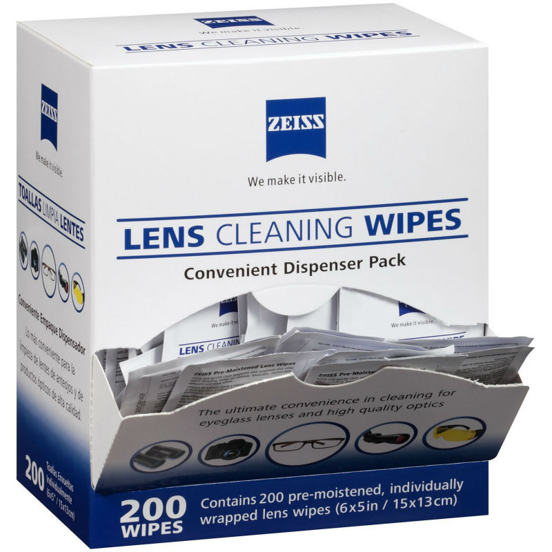 Zeiss 200 wipes value pack Individual Pre-moistened Optical Lens Wipes Cleaning(China (Mainland))