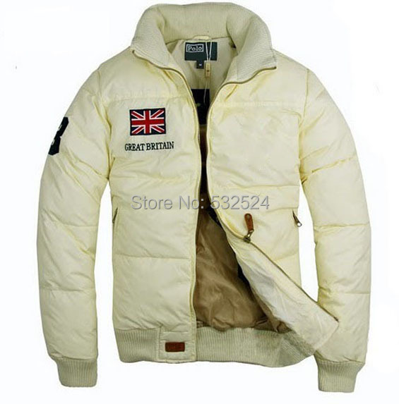 2014 Brand New Classic Fashion Men s USA Flag thickening collar Down Jacket Men Winter Outdoor