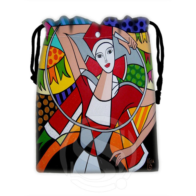 Best Nice Custom Romero Britto #4 drawstring bags for mobile phone tablet PC packaging Gift Bags18X22cm SQ00715-@H0328(China (Mainland))