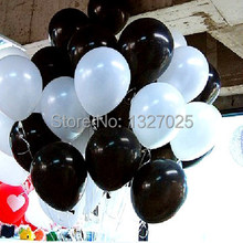 Buy Newest 100pcs/lot 12 inch 3.2g black white Latex baloon Wedding Party Birthday Balloon Decoration Ballons helium ball for $13.99 in AliExpress store