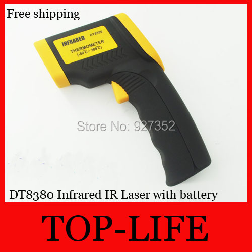 Free Shipping DT8380 Infrared IR Laser Non-Contact Digital Thermometer Infrared Thermometer(China (Mainland))