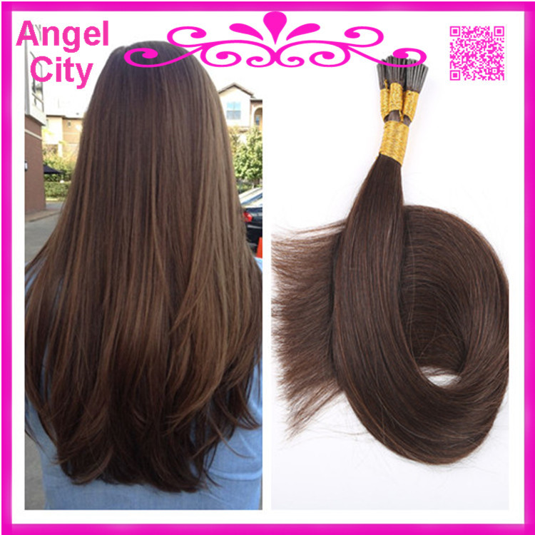 Remy Straight Keratin fusion hair extension stick hair/I tip pre-bonded Hair 1g/strand 100g/pc 3pcs/lot in stock free shipping(China (Mainland))