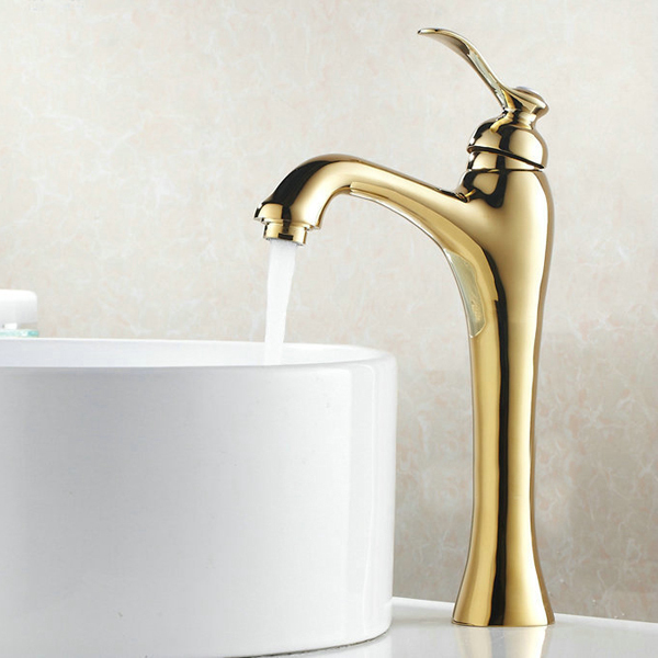 Becola Free Shipping Gold Color Bathroom Sink Deck Mounted Faucet Lavatory Mixer Luxury Faucet
