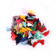 Free Shipping 25mm Tassels Silk Cotton Charms Pendant silk Satin tassels for Earring Findings jewelry making DIY Materials 5pcs
