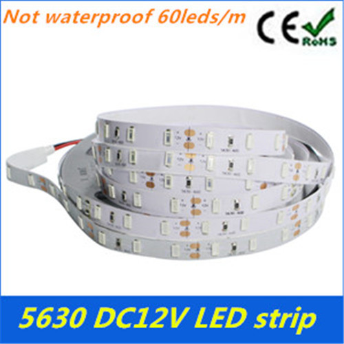 Kitop Hot Sale 5 meters no-waterproof SMD 5630 led strip Dc 12v 300 LED Flexible Strip Light Decorative LED tape free shipping(China (Mainland))