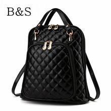 2016 New Arrival High Quality Leather Women Backpack Luxury Brand Black Backpacks For Teens Schoolbag Female Rucksack Backbag