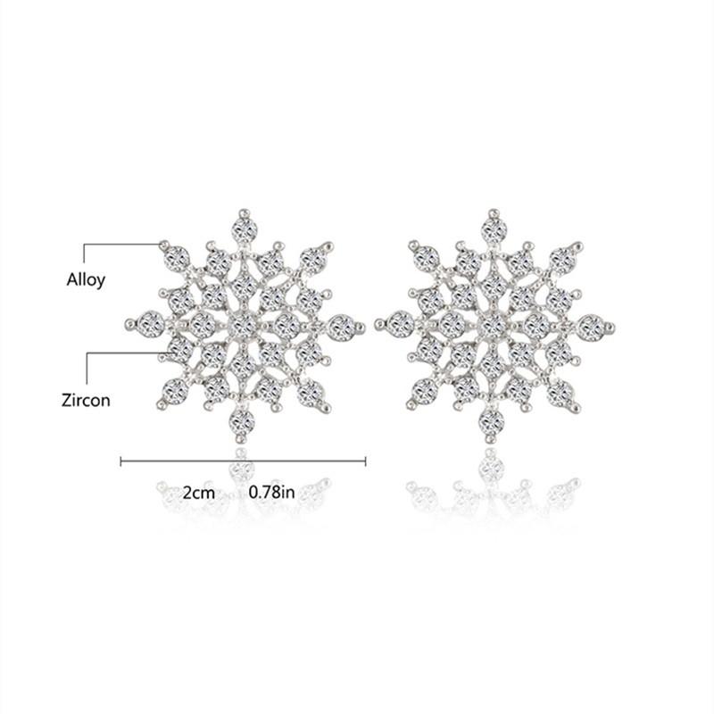 u30fe      uff892016 new    ladies  u22b1 crystal crystal snow flake bijoux statement stud earrings  u3010 for for