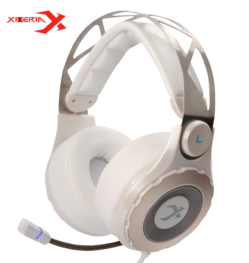 Xiberia T18 World Cyber Games Headphone 7.1 Music System Ergonomics Design Headset With Microphone LED Light For Computer Games