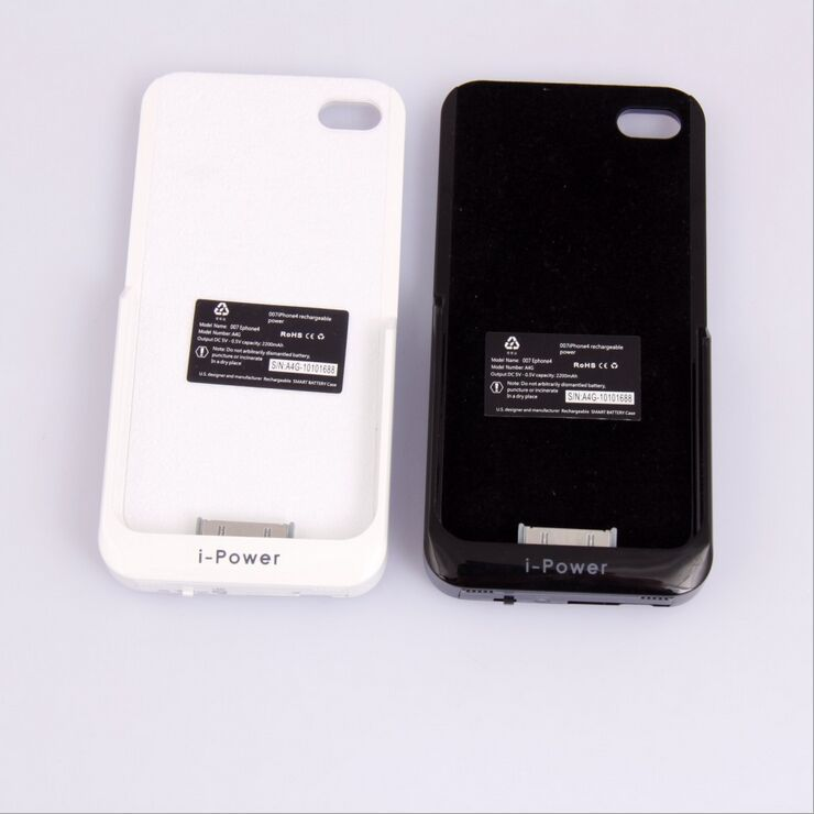 4s Case 2200mAh Rechargeable Backup External Battery Charger Power Bank Powerbank Cover iPhone 4 4S Quick Charging - Shenzhen Lantinshare Technology Co., Ltd. store