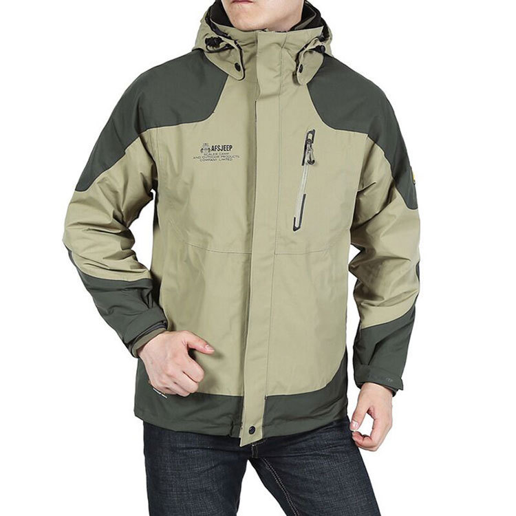 Autumn Winter Warm AFS JEEP Outdoor Coat Jacket 3 in 1 Military Men Jackets Liner Detachable Breathable Multi Function 3xl 8205(China (Mainland))