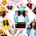 22 Styles More Unisex Adult Pokemon Go Unicorn Tony Fleece Pajamas Kigurumi Bear Cats Cosplay Costume