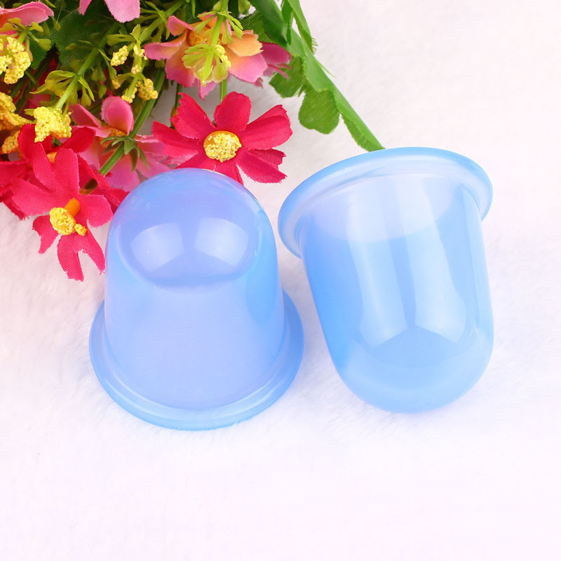 Best Deal Good Quality 2Pcs Small Cups Anti Cellulite Vacuum Silicone Massage Cupping Cups for Body Relaxtion 1 set(China (Mainland))