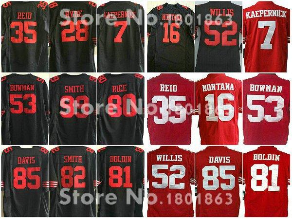 2015 Eric Reid 49er Jerseys, Colin Kaepernick, Torrey Smith, Chris Borland, Carlos Hyde American Football Jerseys M-4XL(China (Mainland))