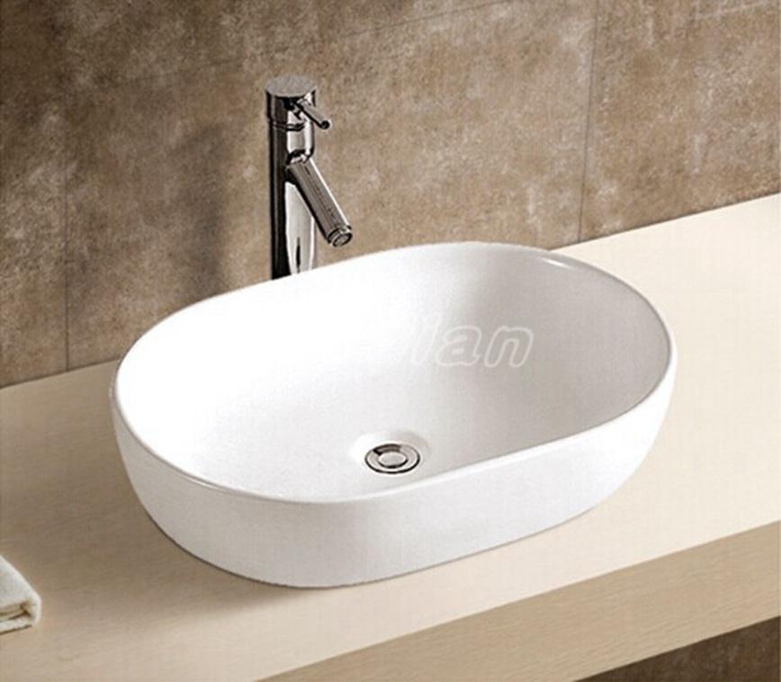 Sanitary ware ceramics in Chaozhou music code above counter basin oval bathroom wash basins art basin basin 7022(China (Mainland))