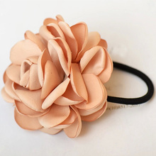 Fashion Charming Hair Bands Simulation Roses String Tire Camellia Scrunchie Women Colorful Pink Khaki Purple Hair Accessories