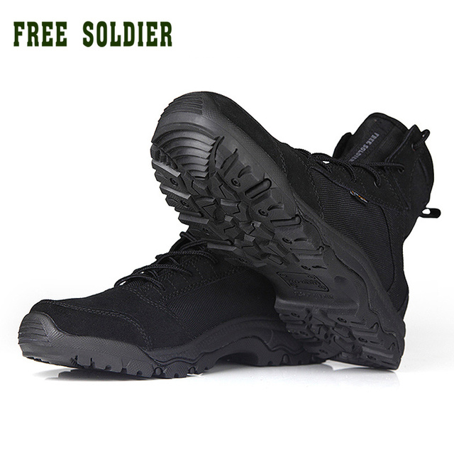FREE SOLDIER outdoor tactical men hiking climbing boots breathable and lightweight sneakers shoes