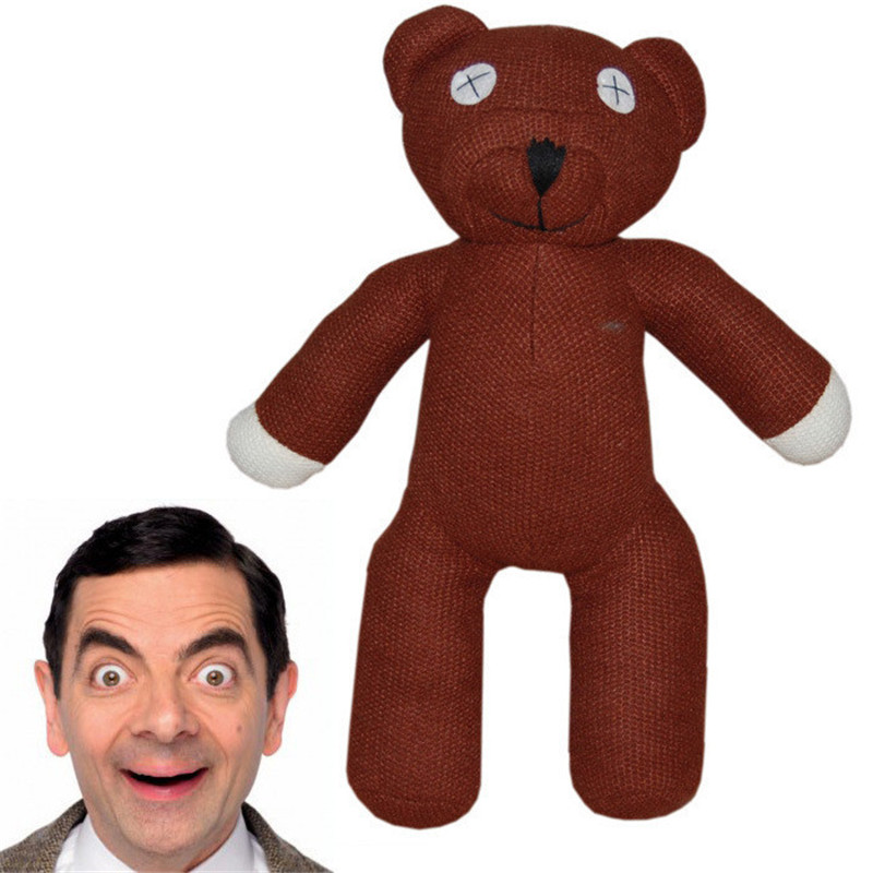 1Piece 25cm Mr Bean Teddy Bear Animal Stuffed Plush Toy Brown Figure Doll Kids Toys(China (Mainland))