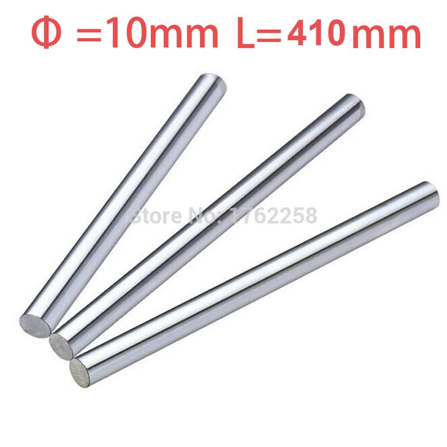 4pcs 10mm 10x410 linear shaft 3d printer 10mm x 410mm Cylinder Liner Rail Linear Shaft axis cnc parts(China (Mainland))