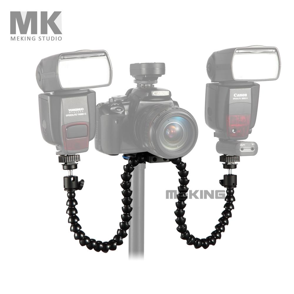 Meking Octopods arm Studio Macro Twin Speedlight Flash Light Speedlite bracket mount holder for Camera(China (Mainland))