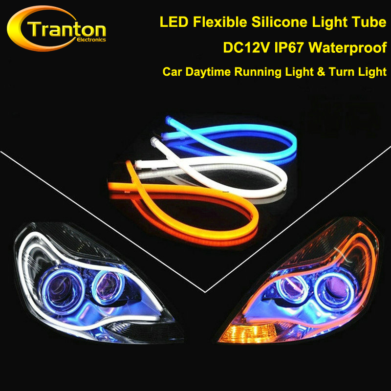 Гаджет  DC12V IP67 waterproof LED flexible silicone light Tube Strip Daytime Running Lights Turn Signal Car Styling Parking Lamps None Свет и освещение
