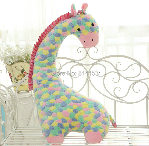 Free Shipping 88cm giant colorful deer plush toy soft animal giraffe pillow doll best quality for children and friend(China (Mainland))