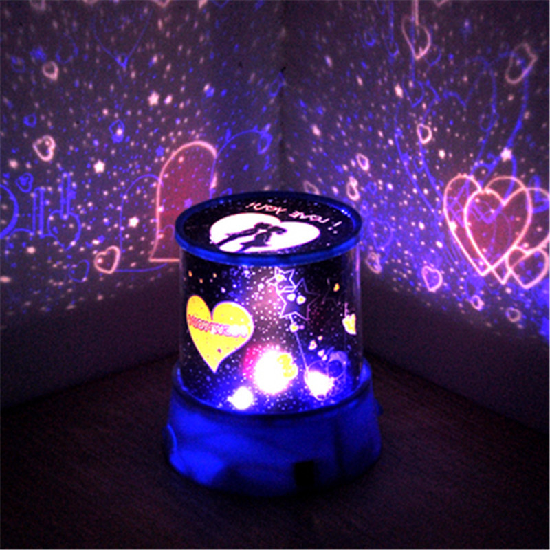 1pcs Birthday gift to dazzle colour rotating projection LED night light starry sky night light valentine's day gift(China (Mainland))