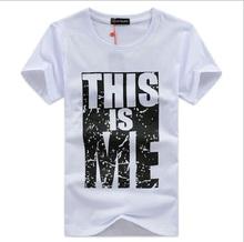 5XL 100% Cotton Men T shirt Homme Fitness Camisetas Hip Hop tshirt Men Brand Clothing Men T-shirt Swag T-Shirt 4XL