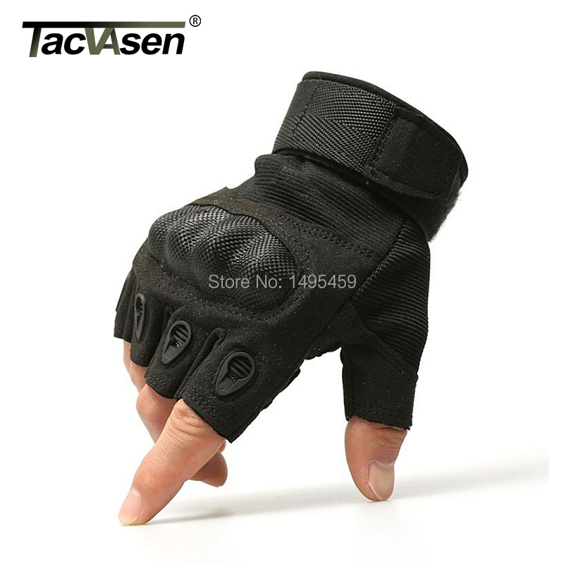 Outdoor Men Half Finger Gloves Army Military Tactical Gloves Motocycel Bicycle Mittens Sports Black Leather Gloves Free Shipping(China (Mainland))