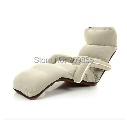 Floor Foldable Chaise Lounge Chairs Double Arm 6 Colors Adjustable Recliner Living Room Sofas and Armchairs Discount Lounger(China (Mainland))