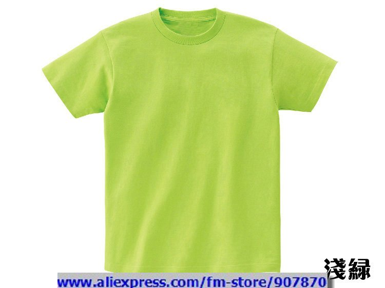 Cheap Womens Mens Light Green Blank T Shirts Solid Color