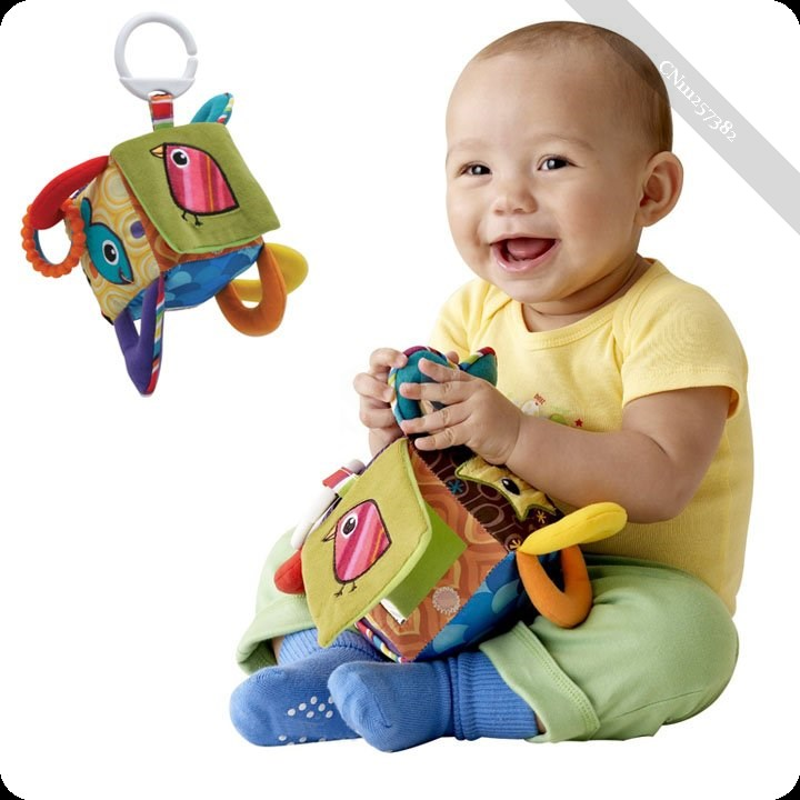 New Lovely Kid Multifunctional Clutch Cube Hang Bell Baby Rattles Toys(China (Mainland))