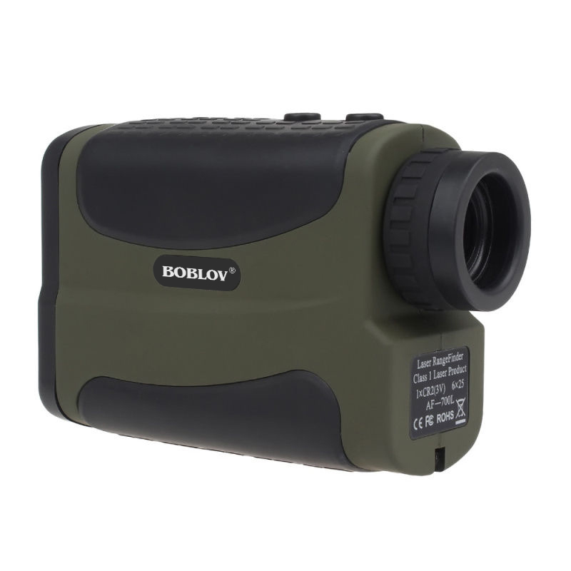 BOBLOV AF-1000L 1000M Handheld 6x Golf Laser Range Finder Speed Measure Scope Golf Scope Flagpole+Free Battery Kit Free