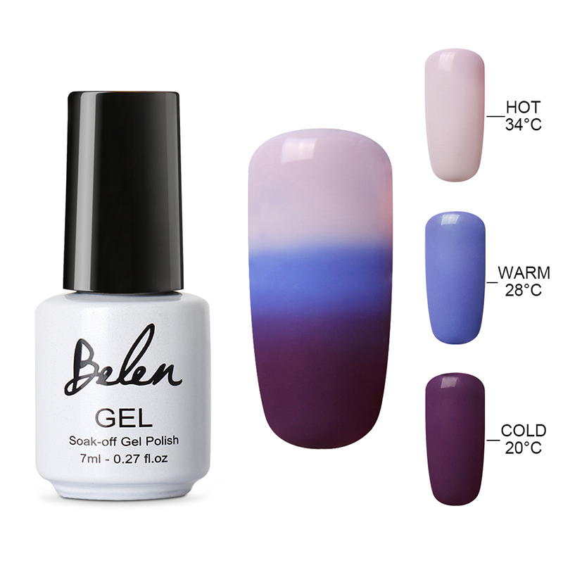 Belen Thermal Color Changing Nail Gel Polish Soak Off UV LED Gel Lacquer Gel Polish Chameleon Salon Soak Off Nail Art Color 4218(China (Mainland))