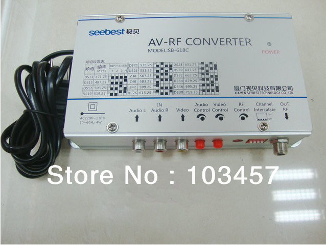 Free shipping, SB-618C, Audio & video frequency agility modulator converter, AV-RF converter(China (Mainland))