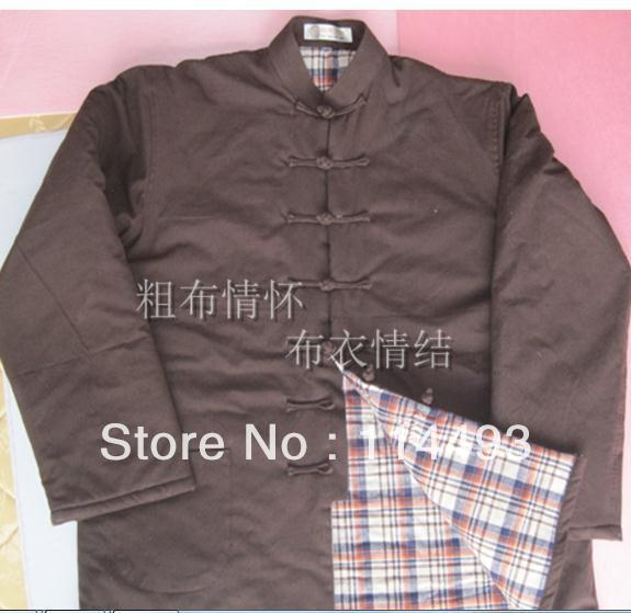 5pcs thicker bruce lee tang cloth Chinese traditional wadded jacket cotton handmade old coarse costume winter warm cotton-padded<br><br>Aliexpress